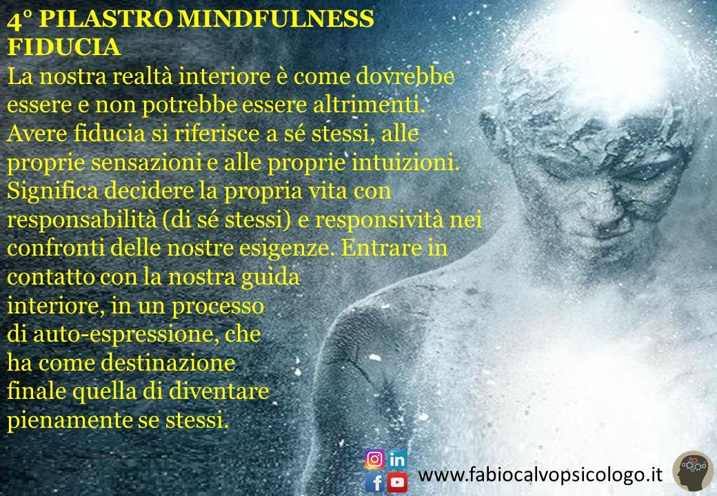 4° Pilastro Mindfulness: FIDUCIA