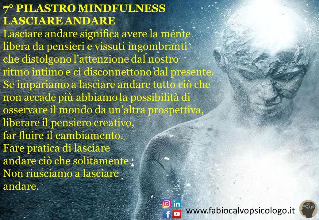 7° Pilastro Mindfulness: LASCIARE ANDARE