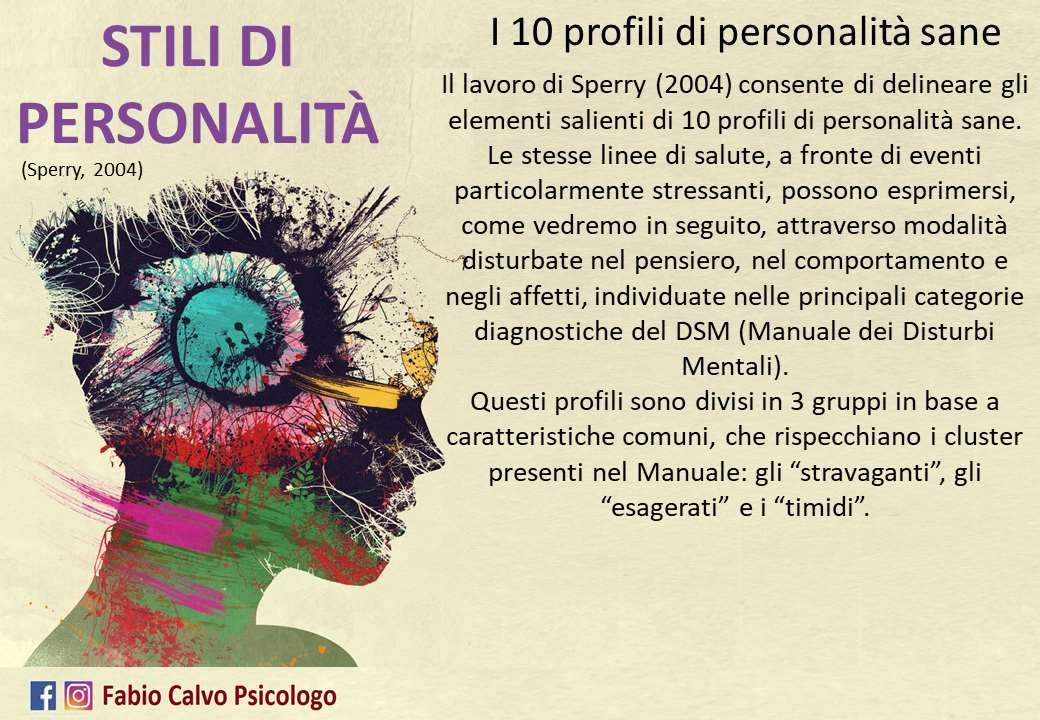 I 10 profili di personalità